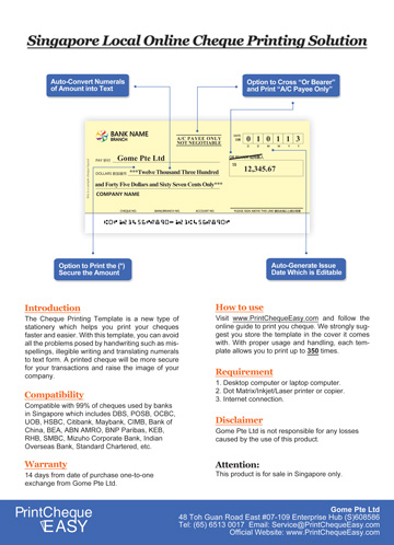 Cheque Printing Template Close window